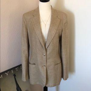 Lauren Ralph Lauren Plaid Blazer Linen Jacket